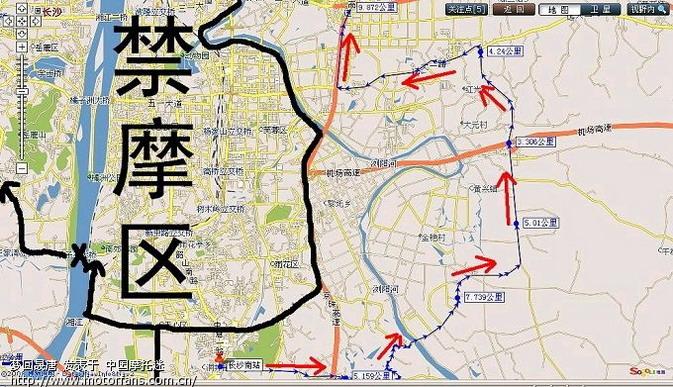 岳阳-长沙(绕城)-株洲(详细线路图)