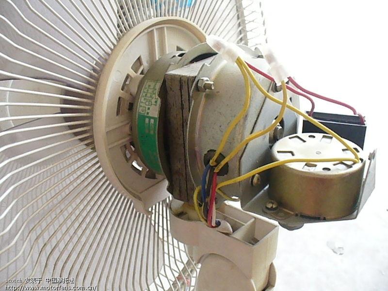 风扇电机改装小发电机接线图