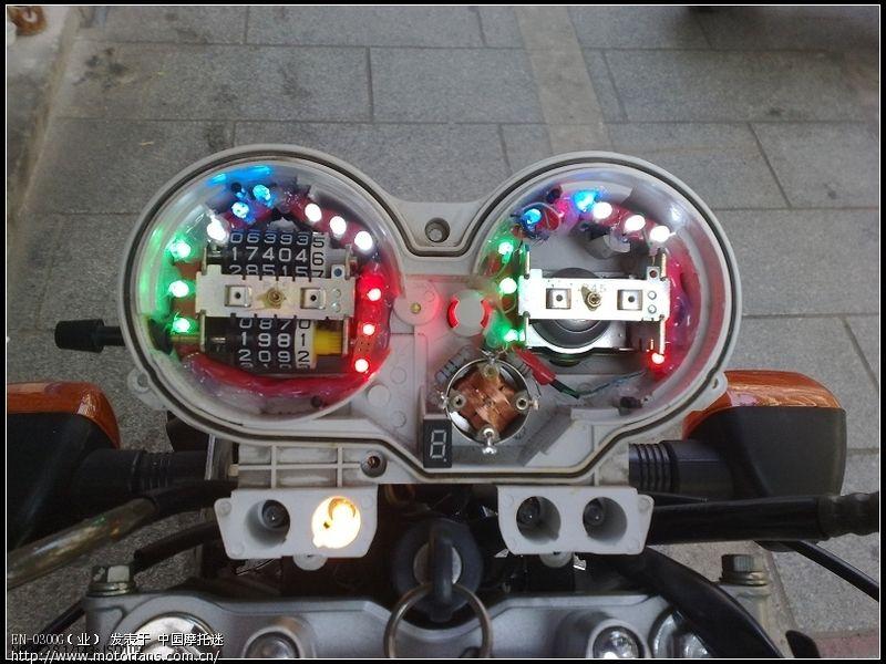 en-2a改装转向优先的双闪,和led仪表,效果展示.