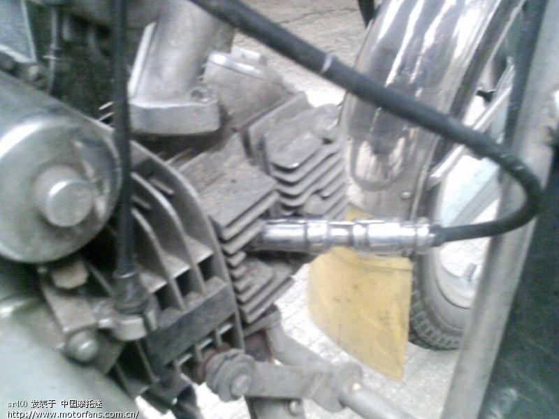 汽车高压线改到了摩托车上的效果高清图片