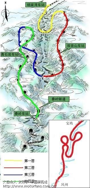 秦岭野生动物园的地图
