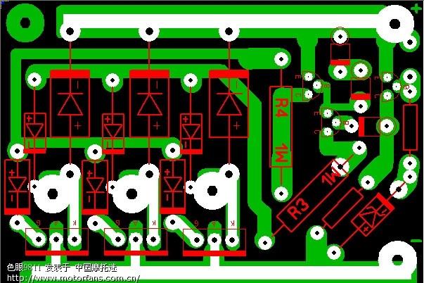 自制关断式整流器电路板图纸