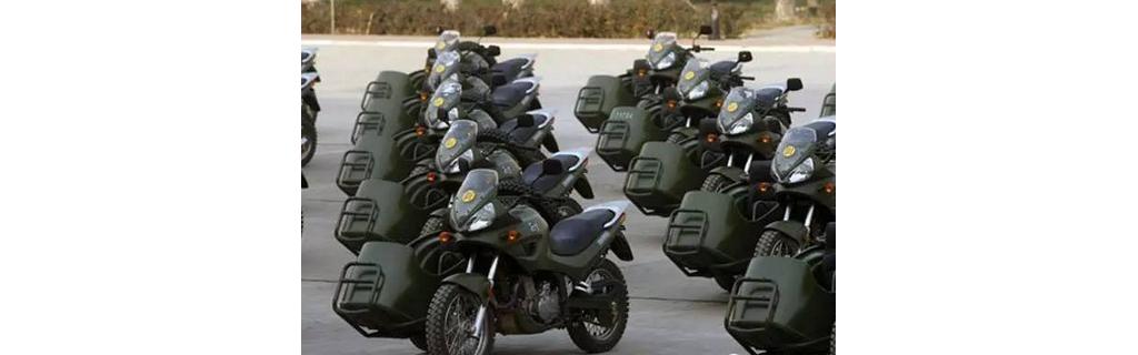 中外军用摩托车对比