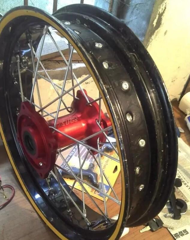 骑士DIY—越野车辐条轮毂改真空胎