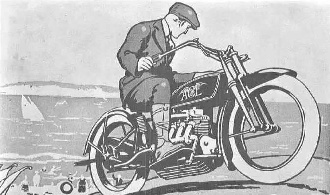 1923年四缸摩托,创造了208 km/h的世界记录