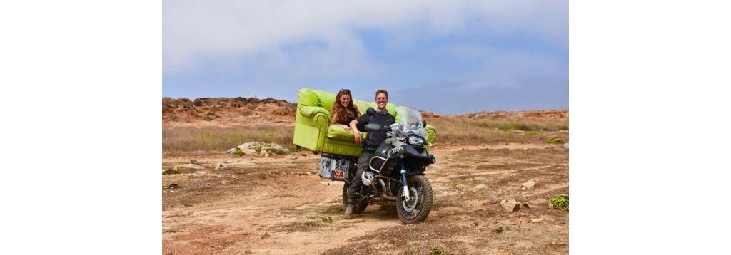 英国新婚夫妇蜜月摩骑游美洲