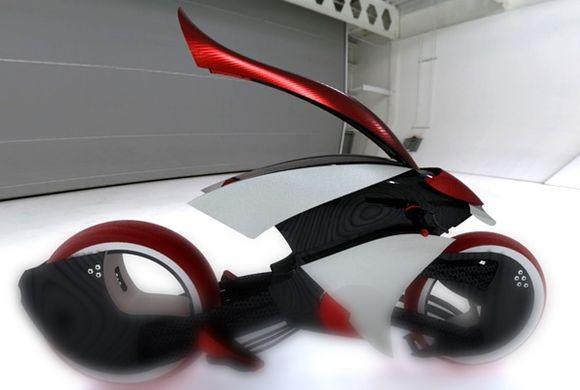 特斯拉的电动摩托车概念车Tesla E-max