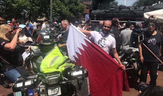 一带一路:骑摩托车重走丝绸之路的阿拉伯人