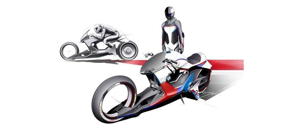 宝马摩托概念设计图曝光,前轮磁力悬浮设计给你十万买不买