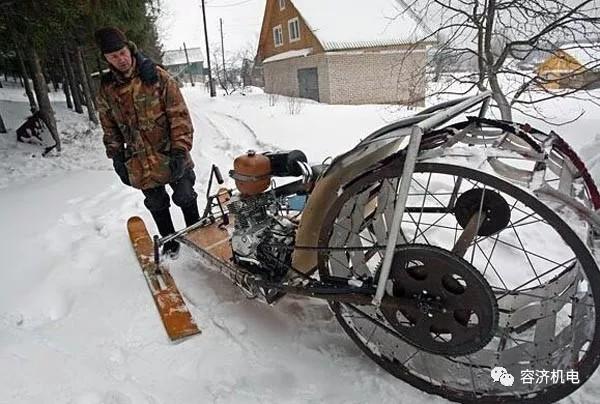 冰雪冬天骑摩托车,这样改装完全可以哦