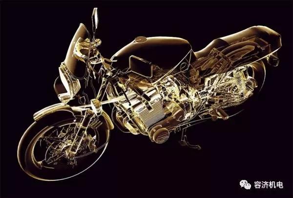 摩托车3D透视结构图以及结构图纸