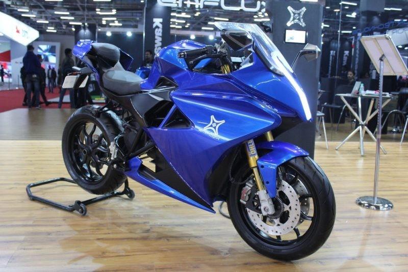 印度黑科技! 一款能在3秒内加速至100公里的电动摩托车