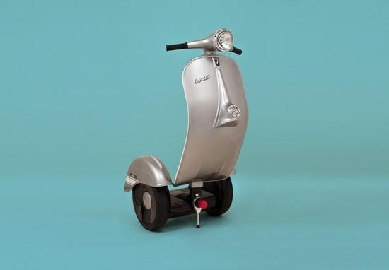 踏板摩托外形的电动平衡车 售价4.6万