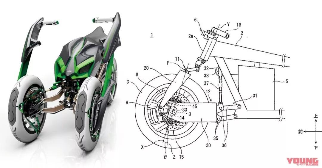 """准备量产的变形摩托车""""宠物"""",川崎研发可变形概念车款「J」"""