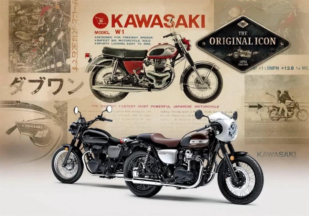 Kawasaki 发布新的 2019' W800 系列复古车