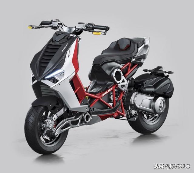 骑踏板摩托车不够爷们?首款肌肉型运动踏板