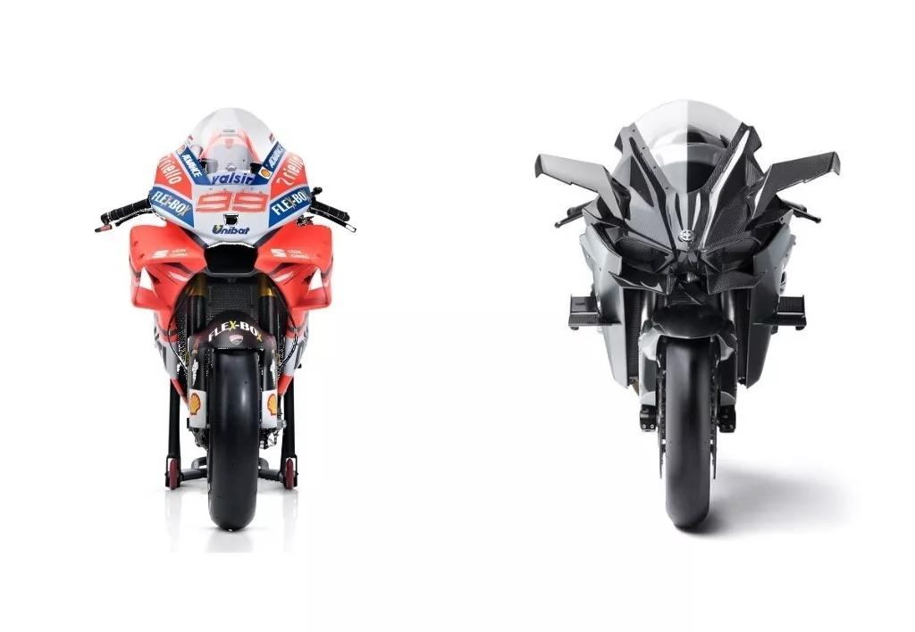 谁更快 #MotoGP还是售价72万+的川崎增压怪兽H2R?