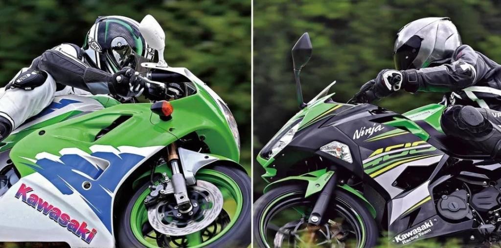 双缸忍者400和四缸忍者400的对比视频,四缸忍者轻松爆表,实力相差太大了!