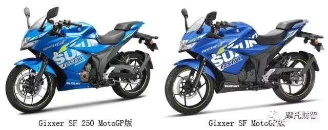 1.7万铃木Gixxer SF 250印度Motogp版花上市
