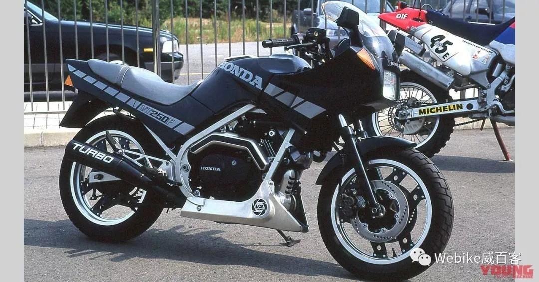 时代的遗憾,四冲250cc涡轮增压53匹马力——本田VT250F TURBO