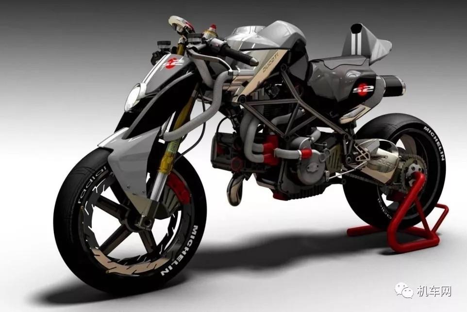 杜卡迪Monster系概念车型,未来感太强